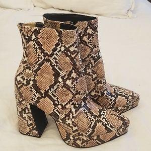 Jeffery Campbell snakeskin boots